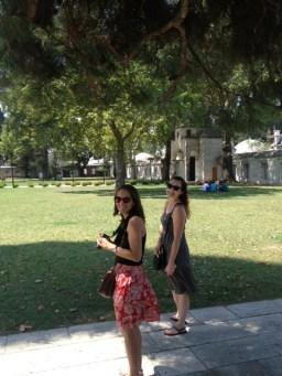 Outside at Suleymaniye