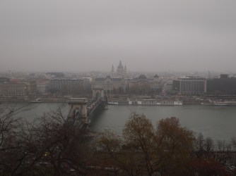 Hazy view across the Danube