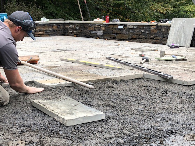 stone patio installation zachary