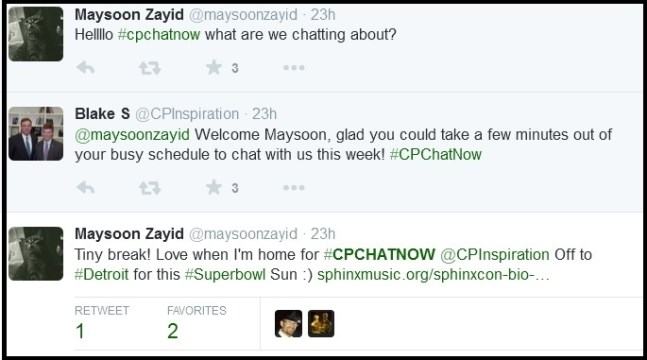 Maysoon Zayid loves CPChatNow