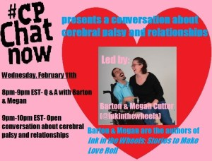 CPChatNow Cerebral Palsy and Relationships Focused Chat graphic