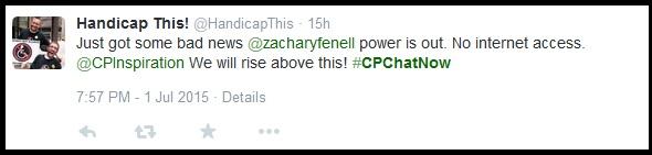 Bad news- Zach has no power