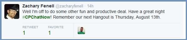 August Google Hangout Reminder