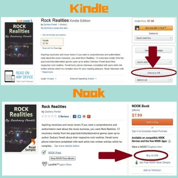 With the Kindle and Nook book gift option last minute gift buying becomes hassle free!
