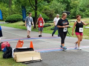 I move towards the finish line at the 2016 A Run Through History 5k.