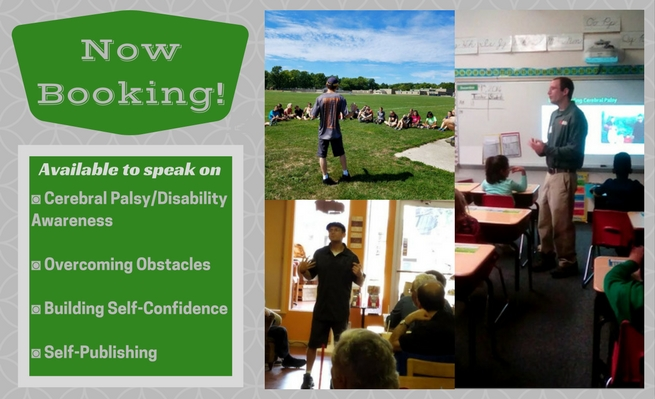 Book cerebral palsy/disability awareness speaker Zachary Fenell for your school, team, or organization.