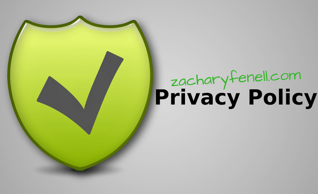 Privacy policy for zacharyfenell.com
