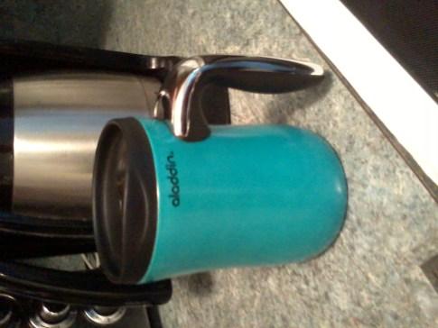 My Aladdin travel mug.