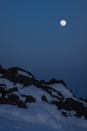 Full Moon Peeking Out