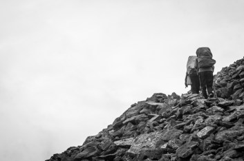 Scree Slope Hiking