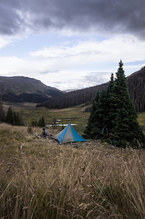 Camp with the Clouds Rolling In