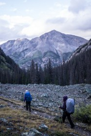 View of Sunshine Peak while Descending Cataract Creek