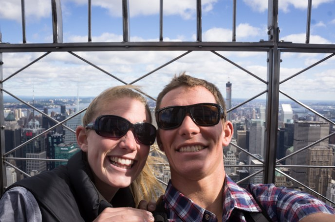 A Gorgeous Girl and I atop the Empire State Building