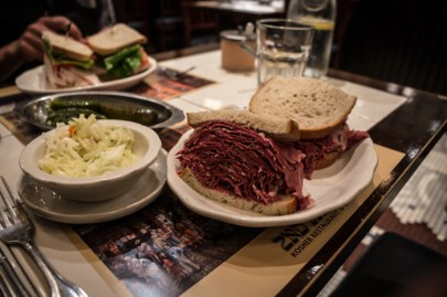 New York's 2nd Avenue Deli and their Delicious Corned Beef Sandwich.