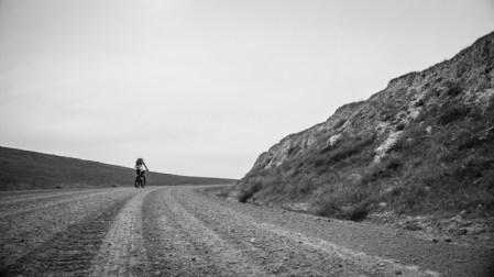 Grete Enjoying the Dirt Alternate Route