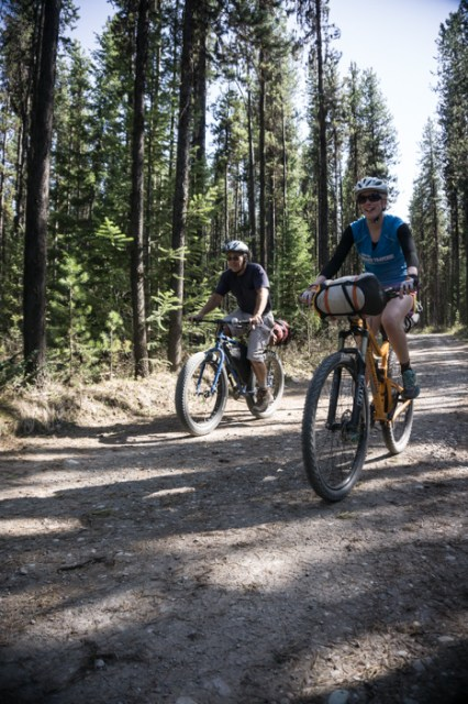 Grete and Mike Rallying Through the Forest