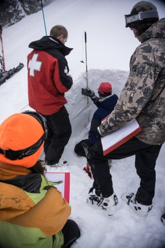 Students Getting Into The Snow