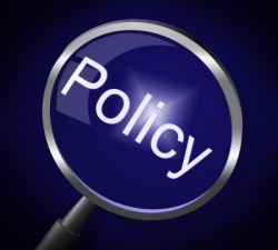 "magnifying glass over the word ""policy"""
