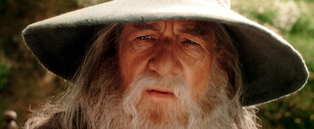 Gandalf looking concerned