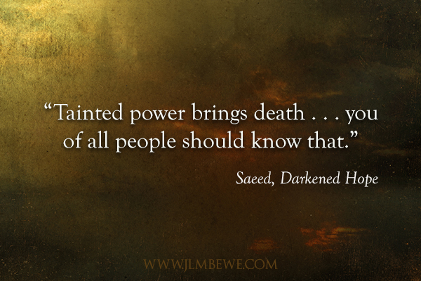 DH book tour tainted power quote