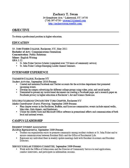 Resume Relevant Coursework Free Online Resume