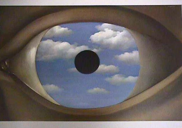 Ren magritte the false mirror 1928 zach 39 s weblog - Falso specchio magritte ...