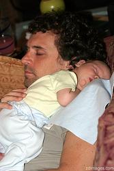 Eli Warkentien asleep on sleeping Zach Dotsey's shoulder