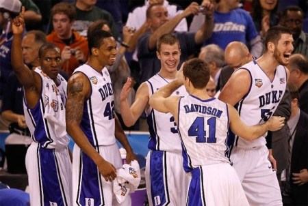 Duke Blue Devils advance to 2010 NCAA Tournament Championship after beating West Virginia | Picture used for personal, non-commercial purposes