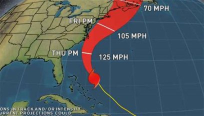 Hurricane Earl's Path from Weather.com