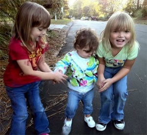 Kimber, Milly and Kenzie on a Walk