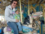 Milly's first amusement park ride ever at the 2010 Cape Fear Fair and Expo