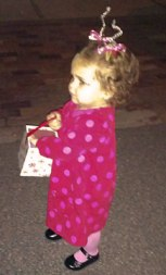 Milly's first time trick or treating
