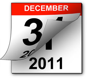 Flipping calendar from 2010-2011