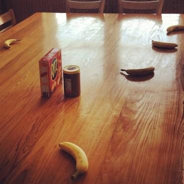 bananas at the table
