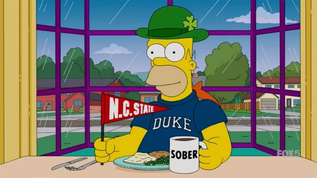 Homer Simpson is a Duke Fan