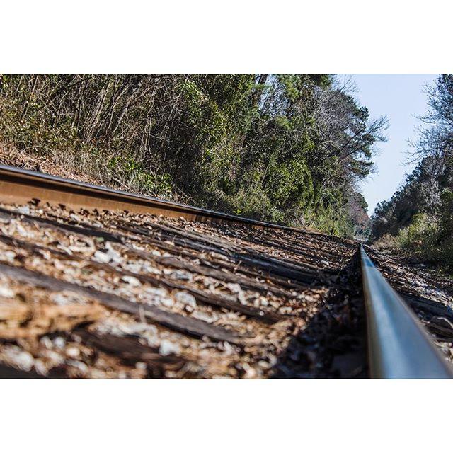 The #railroadtracks in my #backyard