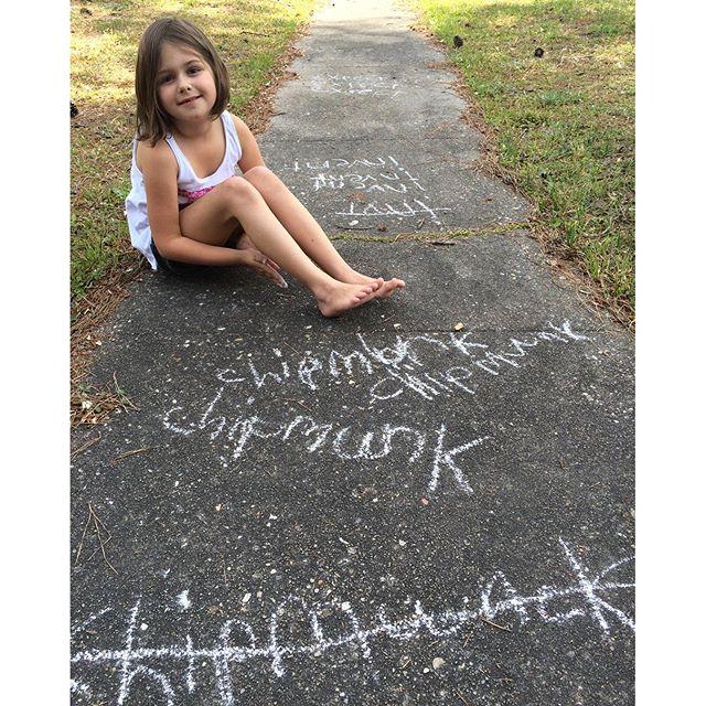 Spelling #homework outside today