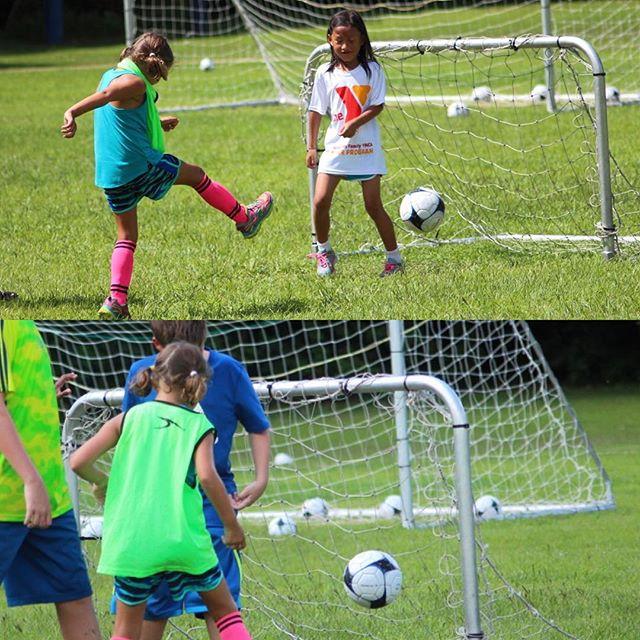 Just scoring some goals at #soccercamp. #soccergirl #Meliamae
