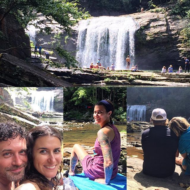 This afternoon's adventure. Hell of a hike there and back, but it was amazing while we were down there. #LaborDayWeekend2016 #waterfall #CompressionFalls