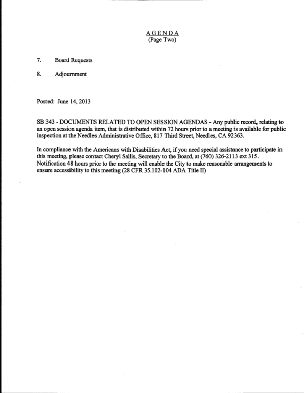 Board of Public Utilities (2)- Tuesday, June 18th, 2013