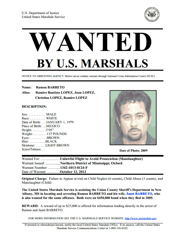 United States Marshals Service- Wanted- Ramon Barreto- Tuesday, June 18th, 2013