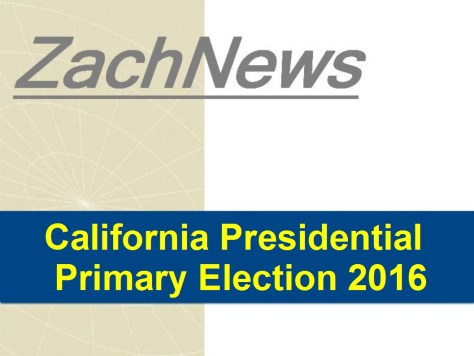 ZachNews - California Presidential Primary Election 2016