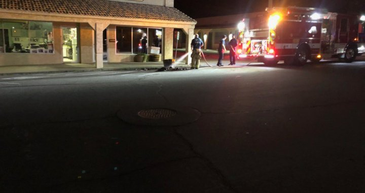 Breaking News: Downtown Needles, CA: Small fire put out in front of the Needles Chamber of Commerce Office.