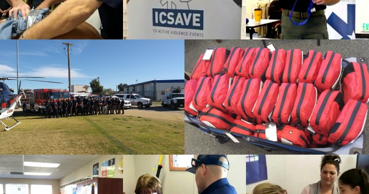 Needles, CA: Needles Unified School District learned life-saving skills and received bleeding control kits to help save lives on school campus.