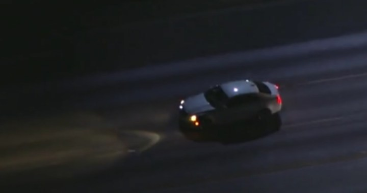 Breaking News: Newhall Pass, CA: Live Broadcast: Police pursuit of a possible driving under the influence suspect.