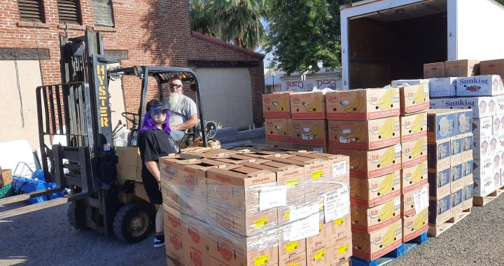 Downtown Needles, CA: Addie's Mobile Pantry will be passing out today produce, baby items, dog food and more.
