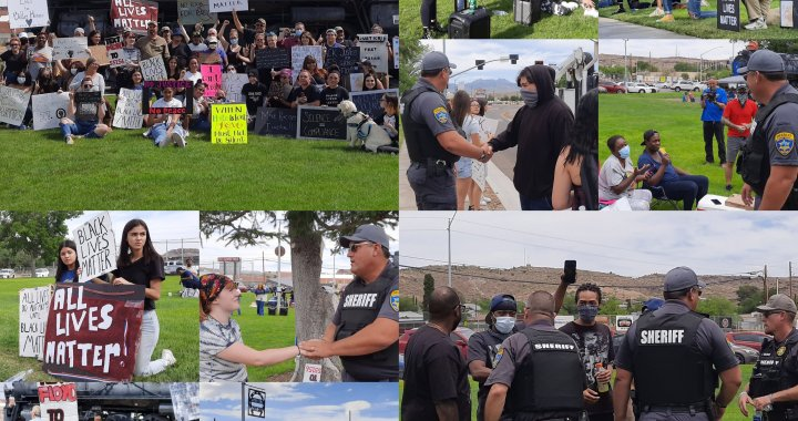 News Update: Downtown Kingman, AZ: Community coming together and protecting the right of peaceful protest to bring awareness, fairness and justice for George Floyd.