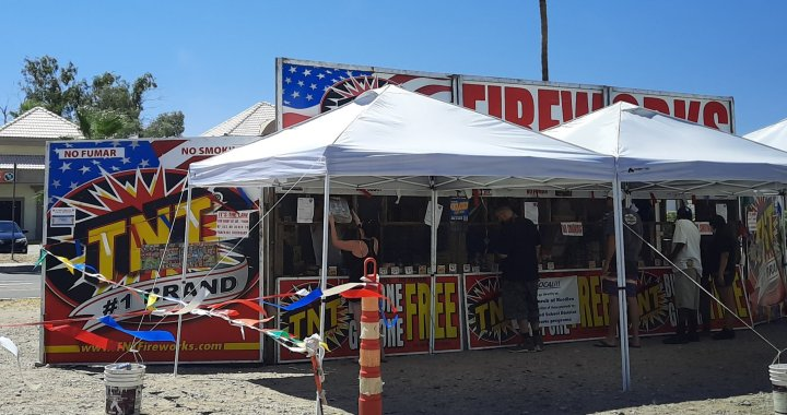 "Needles, CA: Set Free Church of Needles selling ""Safe and Sane"" fireworks for Independence Day 2020 tonight."