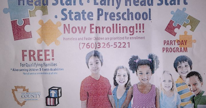 Needles, CA: Enrollment for kids at Needles Head Start continues for 2020-2021 school year.