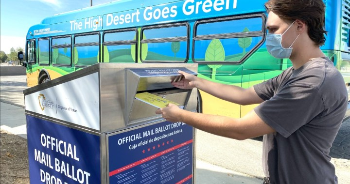 """High Desert, CA: Victor Valley Transit Authority will hold a """"You Have the Ride to Vote"""" promotion on Election Day 2020, providing free fares to polling locations."""